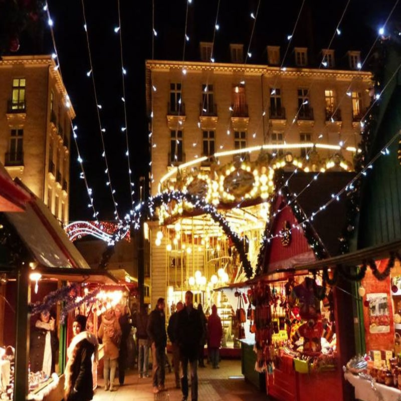 imagenes de mercados navideños de Nante