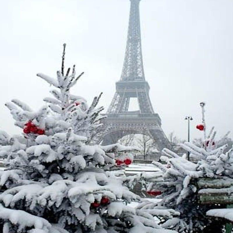 imagenes navideñas de la Torre Eiffel