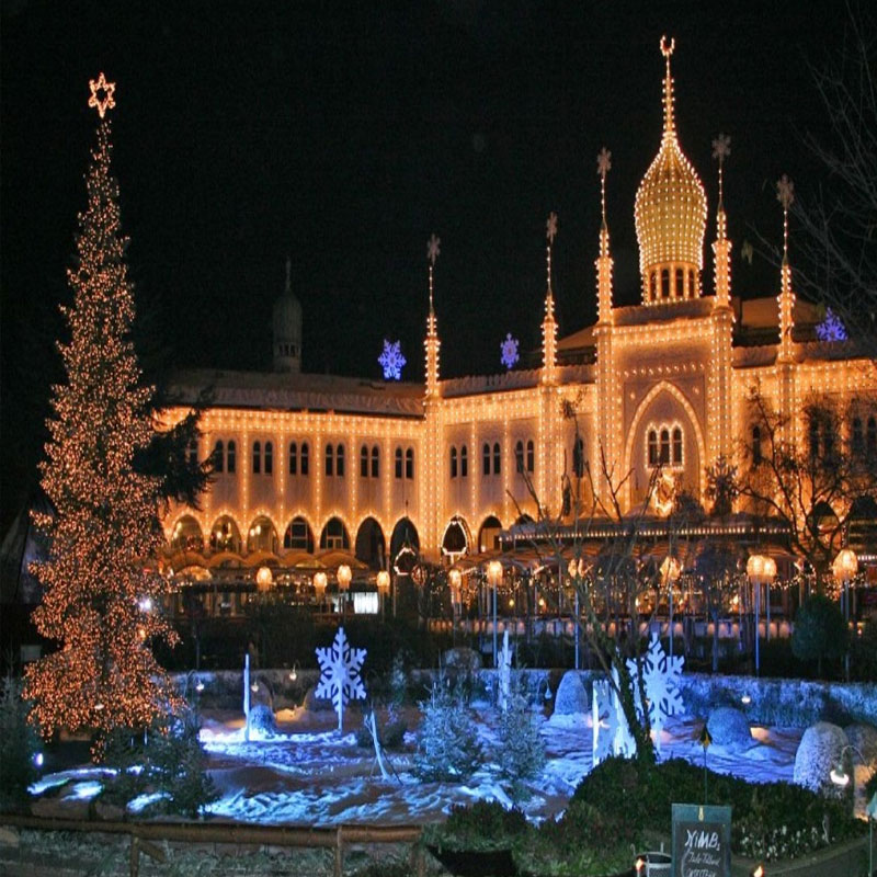jardines tivoli de Copenhague en navidad